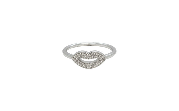 14K GOLD DIAMOND LIPS RING