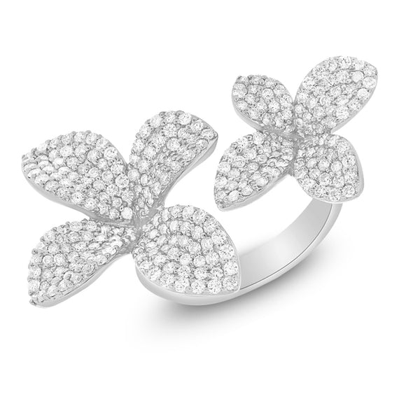 14K GOLD DIAMOND CECILIA FLOWER RING