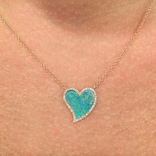 14K ROSE GOLD OPAL HEART NECKLACE