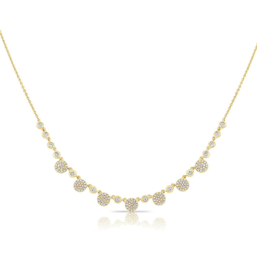14K GOLD DIAMOND COURTNEY NECKLACE