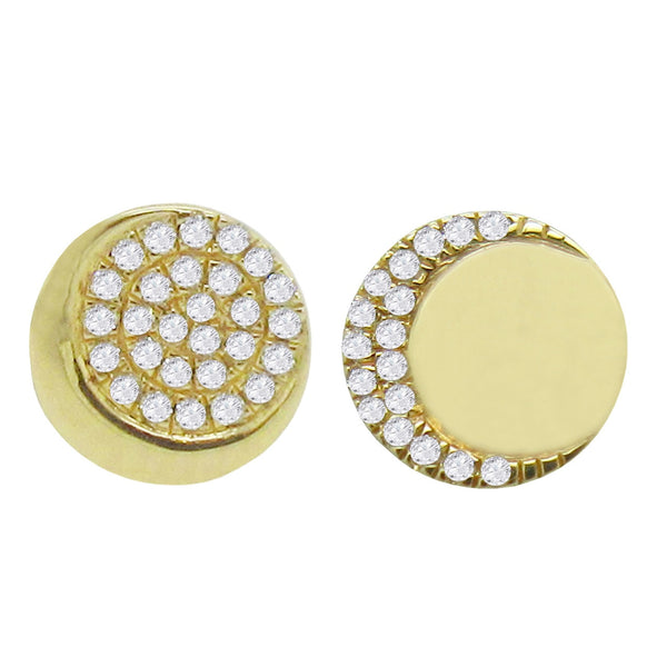 14K GOLD DIAMOND LEAH STUDS