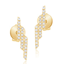 14K GOLD DIAMOND VERONICA STUDS