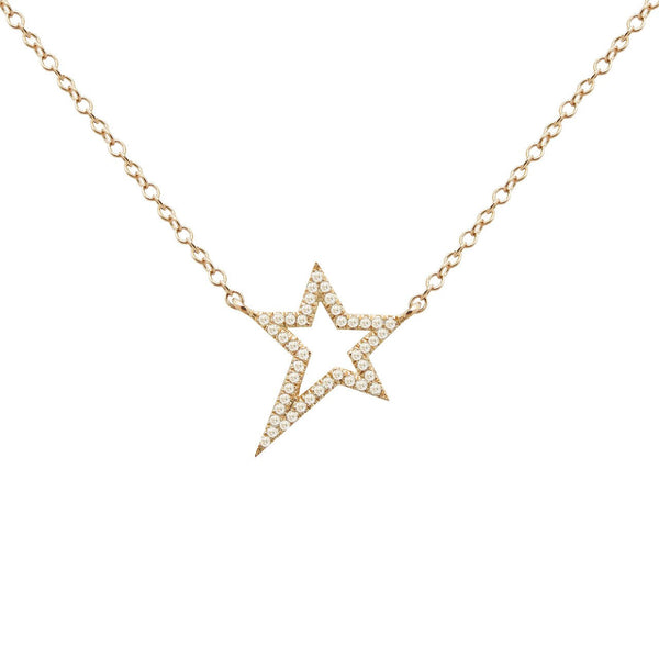14K GOLD DIAMOND VERA NECKLACE (ALL COLORS)