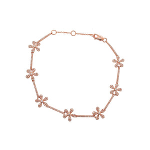 14K GOLD DIAMOND MILLIE FLOWER BRACELET