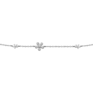 14K GOLD DIAMOND ELEANOR FLOWER BRACELET