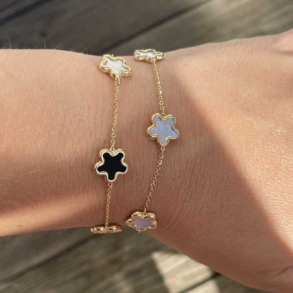 14K GOLD MEGAN FLOWER BRACELET