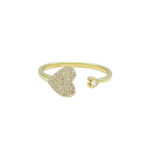 14K GOLD DIAMOND DIANA RING
