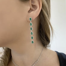18K GOLD DIAMOND AND EMERALD PAIGE EARRINGS