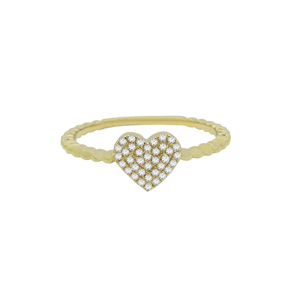 14K GOLD DIAMOND JUDY HEART RING