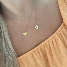 14K GOLD DIAMOND GIGI HEART NECKLACE