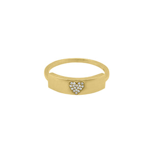14K GOLD DIAMOND LOTTIE HEART RING