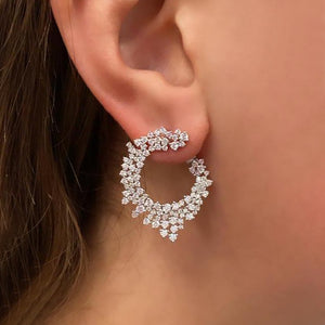 14K GOLD DIAMOND ROZ EARRINGS