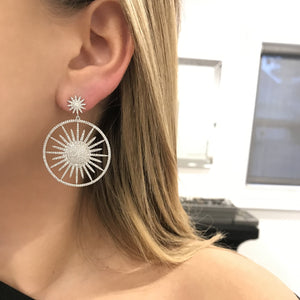 14K GOLD DIAMOND LANA STARBURST EARRINGS