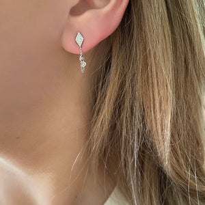 14K ROSE GOLD DIAMOND BRENDA EARRINGS