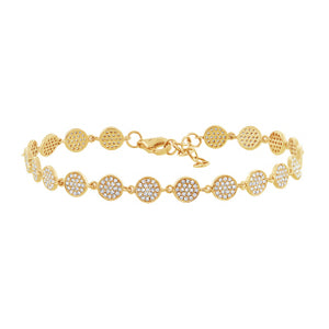14K GOLD DIAMOND JANEY BRACELET