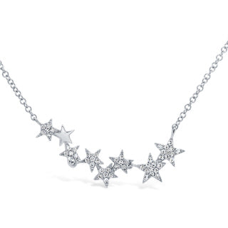 14K GOLD DIAMOND ELANA STAR NECKLACE