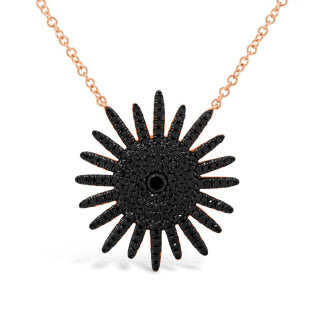 14K GOLD BLACK DIAMOND SKYE NECKLACE