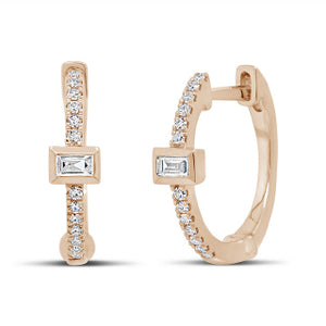 14K GOLD DIAMOND LAUREN HUGGIES