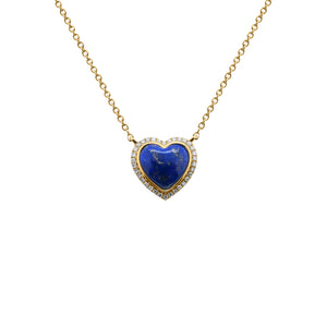 14K GOLD DIAMOND MADELINE HEART NECKLACE