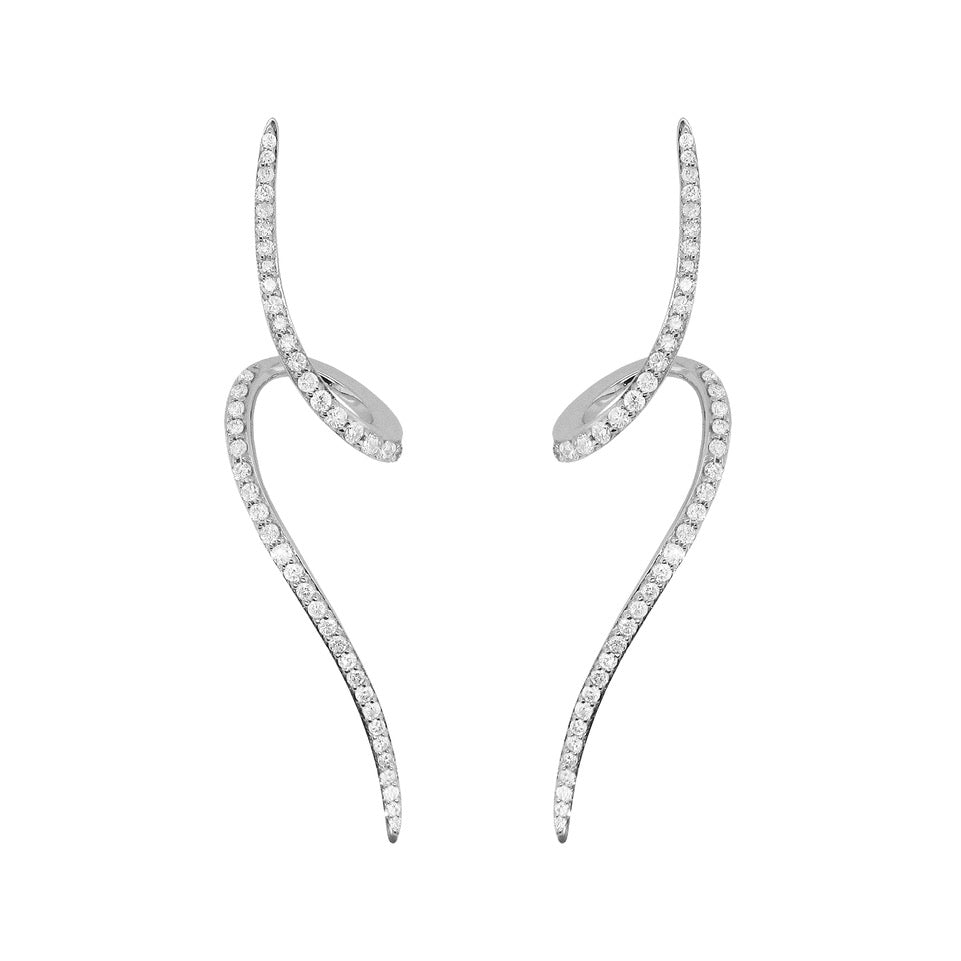 18K GOLD DIAMOND CARMELLA EARRINGS