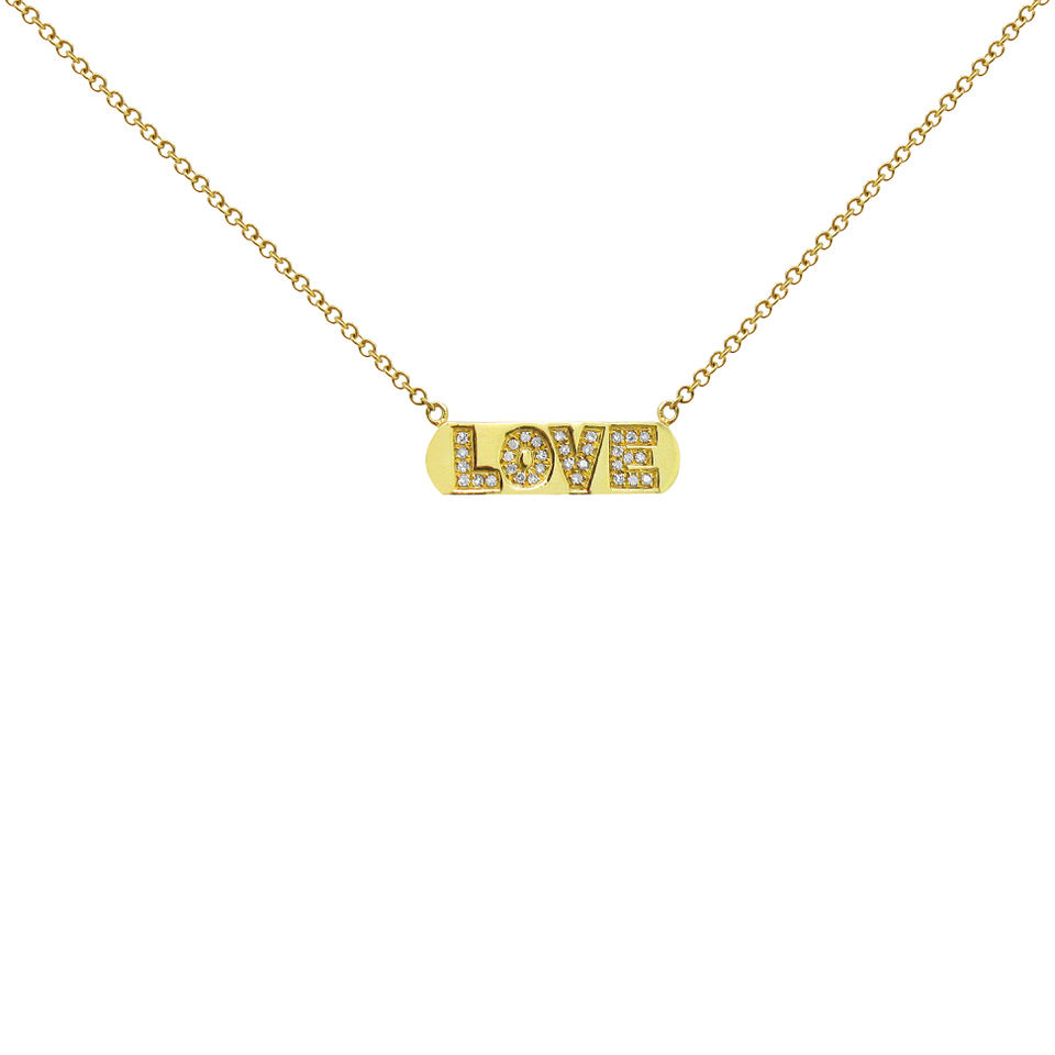 14K GOLD DIAMOND BELLA LOVE NECKLACE