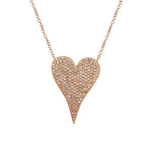 14K GOLD DIAMOND MEDIUM JANINE HEART NECKLACE