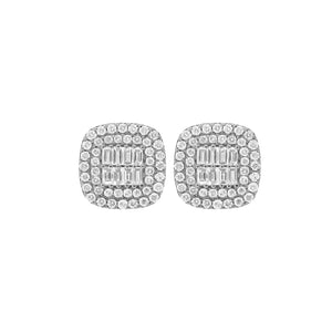 14K GOLD DIAMOND MEDIUM SARAH CUSHION EARRINGS