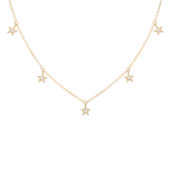 14K GOLD DIAMOND NIKKI STAR NECKLACE