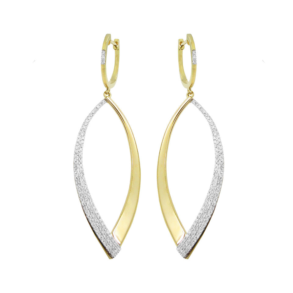 14K GOLD DIAMOND NANCY EARRINGS