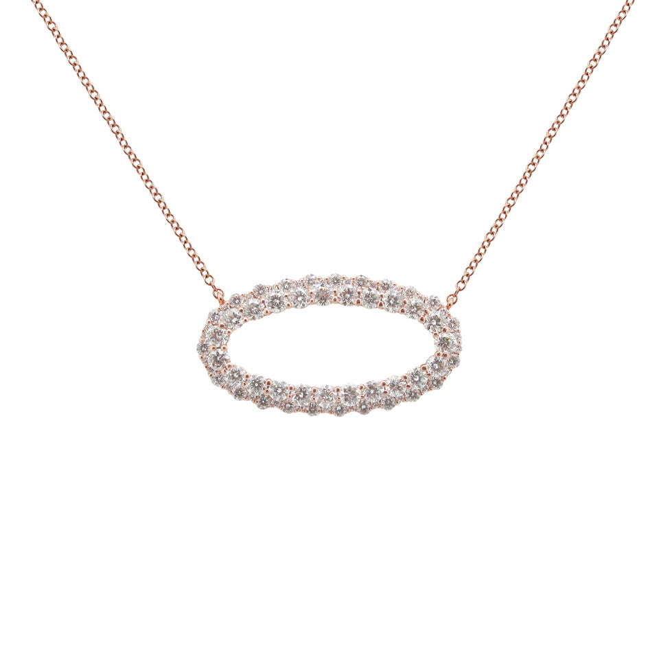 14K GOLD DIAMOND ASHLEY NECKLACE