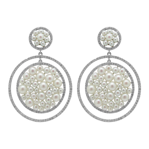 18K GOLD DIAMOND MADISON EARRINGS