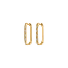 14K GOLD DIAMOND TESSA HOOPS