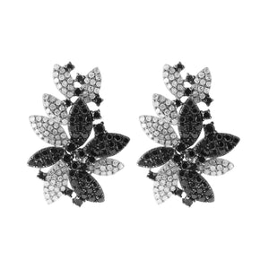14K GOLD BLACK AND WHITE DIAMOND ADDIE EARRINGS