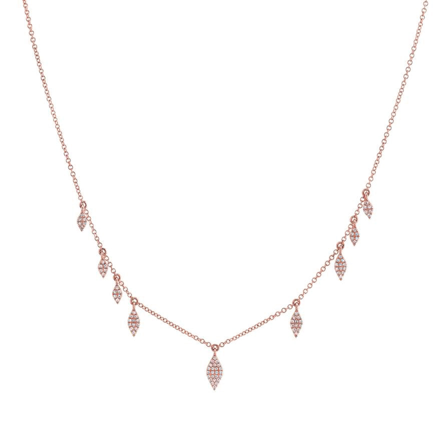 14K GOLD DIAMOND VIVIAN NECKLACE