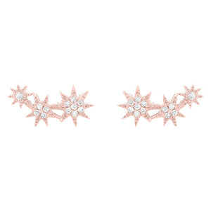 14K GOLD DIAMOND NOA STAR STUDS