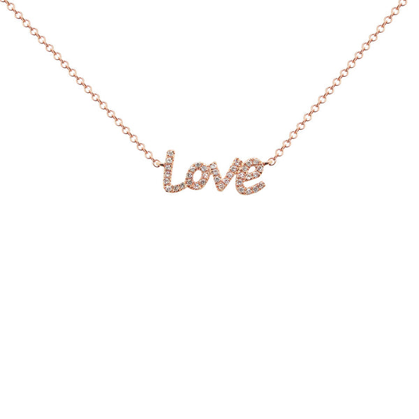 14K GOLD DIAMOND CLEO LOVE NECKLACE