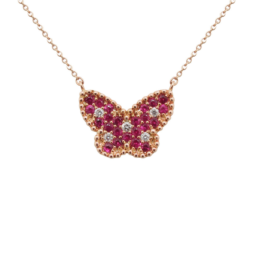 14K GOLD DIAMOND RUBY RANDY NECKLACE