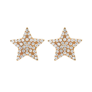 14K GOLD DIAMOND RANDY STAR STUDS