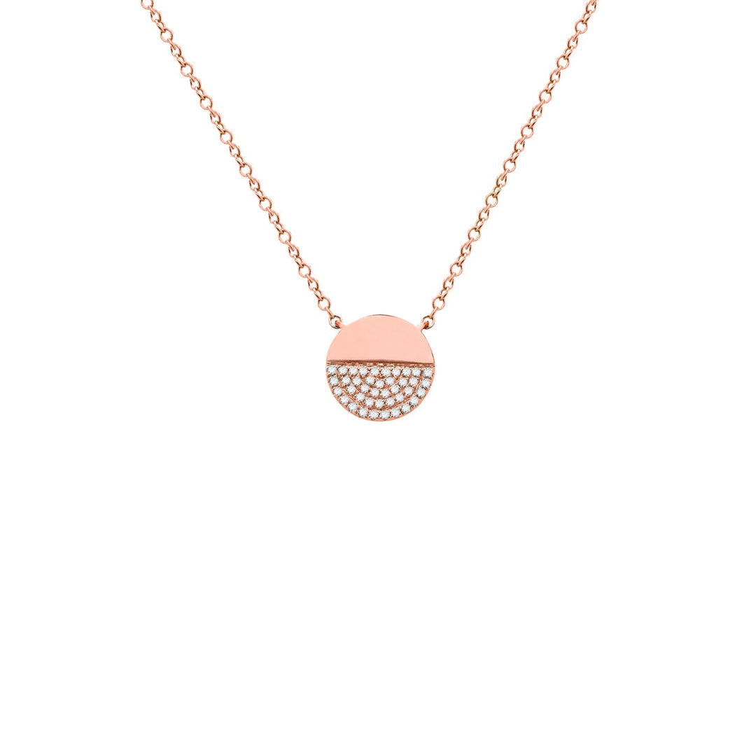14K GOLD DIAMOND MOLLY CIRCLE NECKLACE
