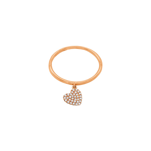14K GOLD DIAMOND ALIVIA HEART RING