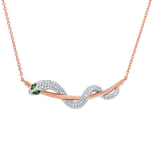 14K GOLD DIAMOND JANEY SNAKE NECKLACE