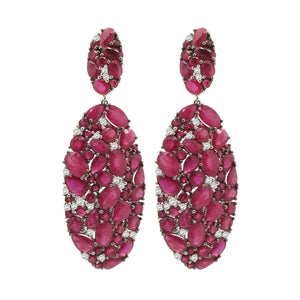 18K GOLD DIAMOND RUBY DIANNE EARRINGS