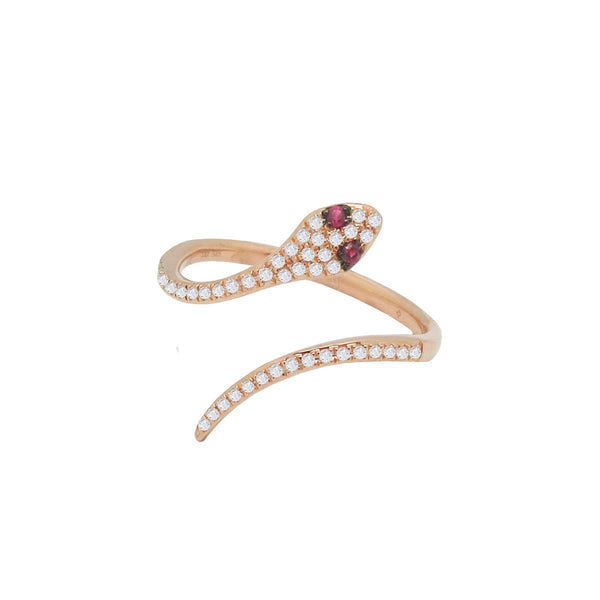 14K GOLD DIAMOND LANI SNAKE RING