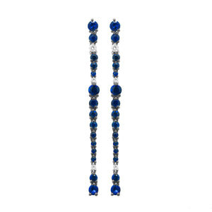 18K GOLD DIAMOND BELLA SAPPHIRE EARRINGS
