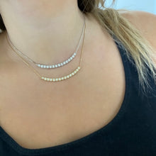 14K GOLD DIAMOND MILEY CRESCENT NECKLACE