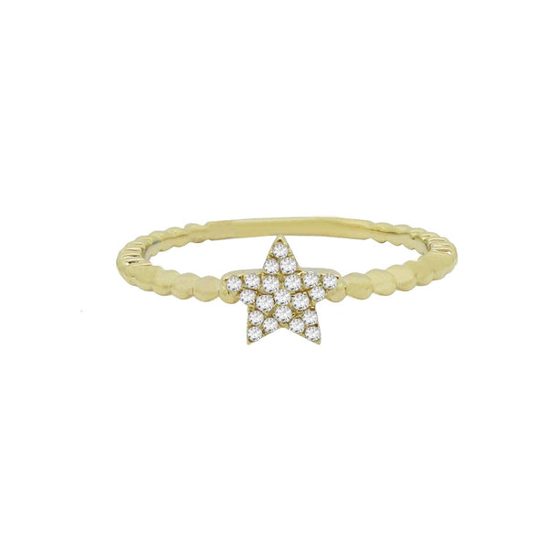 14K GOLD DIAMOND LIANNA STAR RING