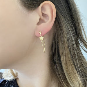 14K GOLD BAILEY STAR EARRINGS