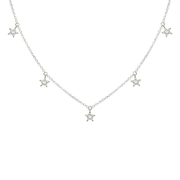 14K GOLD DIAMOND NIKKI STAR NECKLACE (ALL COLORS)