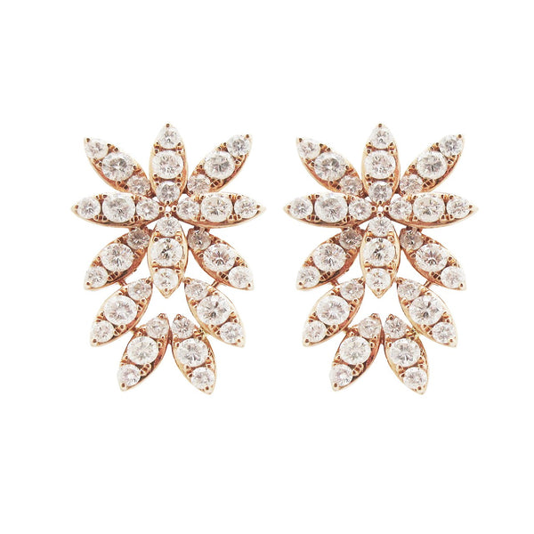 18K ROSE GOLD DIAMOND SIENNA BURST EARRINGS