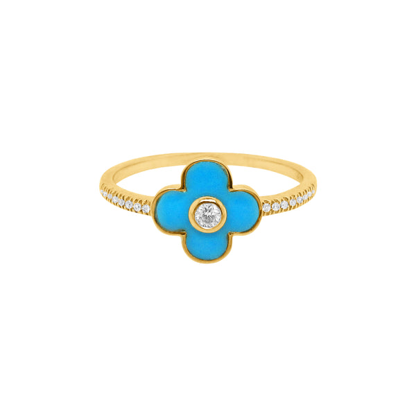 14K GOLD DIAMOND EVERLEIGH CLOVER RING